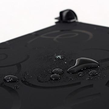 Songmics LPC30H Kleiderschrank Garderobenschrank Steckregalsystem mit 2 Kleiderstange, Plastik, schwarz, 143 x 178 x 36 cm - 7