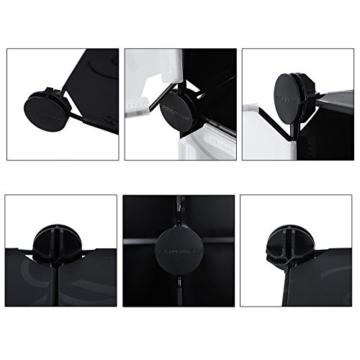 Songmics LPC30H Kleiderschrank Garderobenschrank Steckregalsystem mit 2 Kleiderstange, Plastik, schwarz, 143 x 178 x 36 cm - 8