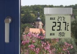 TFA Dostmann Vision digitales Fensterthermometer, 30.1025, großes Display mit Außentemperatur - 1
