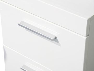 trendteam smart living Badezimmer Schrank Kommode Amanda, 37 x 79 x 31 cm in Weiß Hochglanz mit Schubkasten - 3
