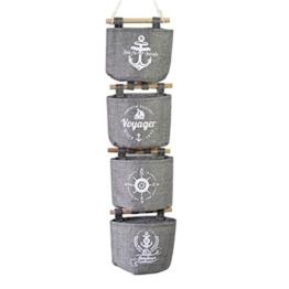URIJK Hängetasche Tür Wand Taschen Multifunktion Wasserdicht Handtasche Aufbewahrungstasche für Badezimmer Küche(4 Stück) - 1