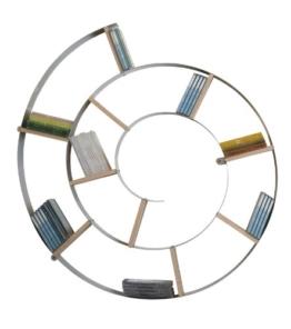 Wandregal Snail, Silber, CD-/DVD-/Bluray-/Bücher Regal, dekoratives Schneckenregal für 150 CDs - 1