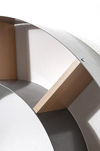 Wandregal Snail, Silber, CD-/DVD-/Bluray-/Bücher Regal, dekoratives Schneckenregal für 150 CDs - 5