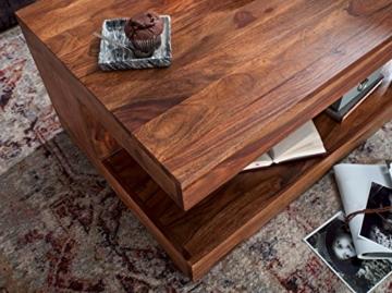 Wohnling Couchtisch Massiv-Holz Sheesham 90 cm breit Wohnzimmer-Tisch Design Landhaus-Stil Beistelltisch Natur-Produkt Wohnzimmermöbel Unikat modern Massivholzmöbel Echtholz rechteckig dunkel-braun - 5