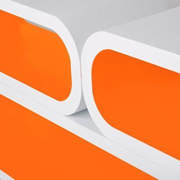 WOLTU RG9230or-a Wandregal Lounge 3er Set Bücherregal Hängeregal, weiß-orange - 4