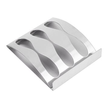 Zahnbürste Halter, Zahnpasta Regal, Rasiermesser Stand, Wandmontage Selbstklebend, Zahnbürstenhalter Dispenser, Edelstahl Badezimmer Regale Zubehör für Home Storage & Bad (3 Löcher) - 5