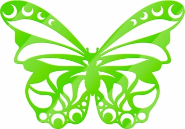 Acryldeko »Schmetterling«, 30/23 cm