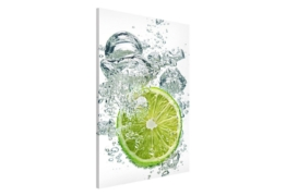 Bilderwelten Magnettafel Hoch »Lime Bubbles«