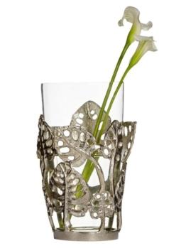 heine home Deko-Vase mit Blätter-Dekor