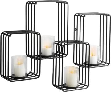 Home affaire Wandkerzenhalter für 4 Kerzen aus Metall, Breite 70 cm