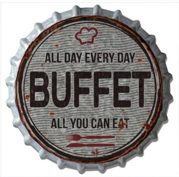 HTI-Line Blechschild »Buffet«