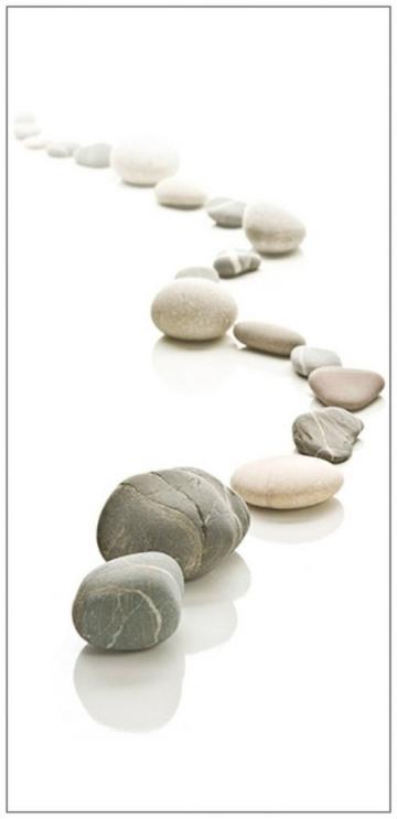 MYSPOTTI Duschrückwand »fresh F3 Stone Path«, 100 x 210 cm