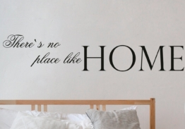 QUEENCE Wandtattoo »There´s no place like Home«, dunkelgrau, 120 x 25 cm