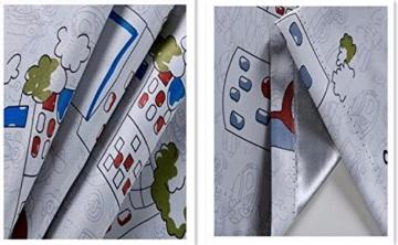 2er-Set Karikatur blickdichte vorhänge für Kinder Kinderzimmer (175*140 cm, Karikatur-Auto) - 2