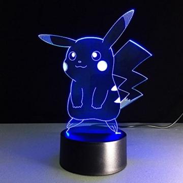 3D Deco Lampe,3D Optische Illusions-Lampen Hologramm Illusion Kinder Zimmer Deko Neu - 3