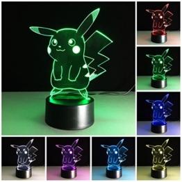 3D Deco Lampe,3D Optische Illusions-Lampen Hologramm Illusion Kinder Zimmer Deko Neu - 1