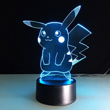 3D Deco Lampe,3D Optische Illusions-Lampen Hologramm Illusion Kinder Zimmer Deko Neu - 5