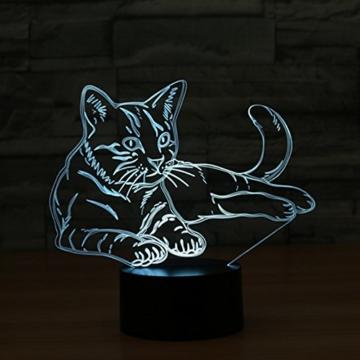 3D Licht optische Illusion 3D Lampe Led Illusion Tischlampe Katze Nachtlicht Geburtstagsgeschenk Weihnachtsgeschenk für Freunde Kinder - 3