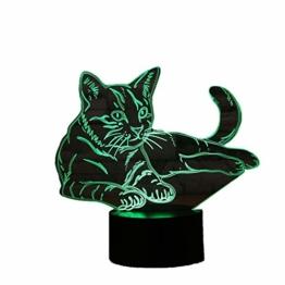 3D Licht optische Illusion 3D Lampe Led Illusion Tischlampe Katze Nachtlicht Geburtstagsgeschenk Weihnachtsgeschenk für Freunde Kinder - 1