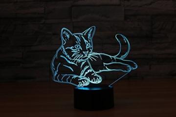 3D Licht optische Illusion 3D Lampe Led Illusion Tischlampe Katze Nachtlicht Geburtstagsgeschenk Weihnachtsgeschenk für Freunde Kinder - 7