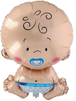 A.I. & E. Folienballon Baby XL Junge Boy Größe ca. 58 x 37 cm - 1