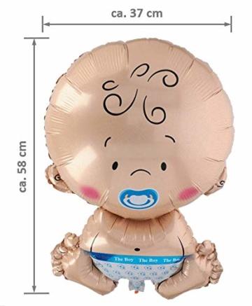 A.I. & E. Folienballon Baby XL Junge Boy Größe ca. 58 x 37 cm - 2