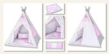 Amilian® Tipi Spielzelt Zelt für Kinder T11 (Spielzelt mit der Tipidecke und Kissen) - 2