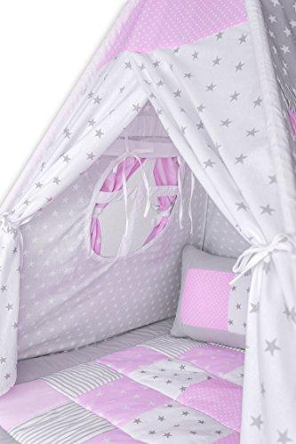 Amilian® Tipi Spielzelt Zelt für Kinder T11 (Spielzelt mit der Tipidecke und Kissen) - 4