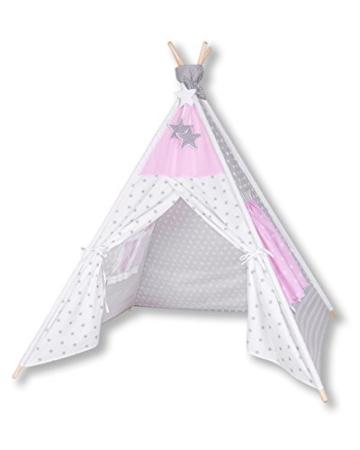 Amilian® Tipi Spielzelt Zelt für Kinder T11 (Spielzelt mit der Tipidecke und Kissen) - 6