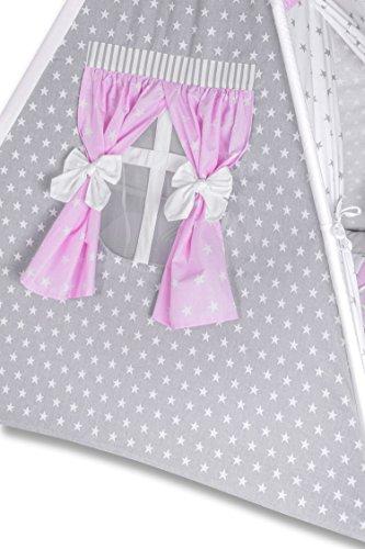 Amilian® Tipi Spielzelt Zelt für Kinder T11 (Spielzelt mit der Tipidecke und Kissen) - 7
