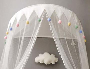 Betthimmel Babybett Baldachin Kinderzimmer Moskitonetz Bett Baby Zelt Spielen Zimmerdekoration für Babys, Mädchen, Jungen, Mückenschutz WBT - 2