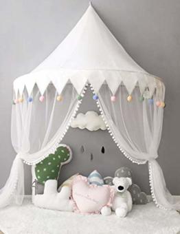 Betthimmel Babybett Baldachin Kinderzimmer Moskitonetz Bett Baby Zelt Spielen Zimmerdekoration für Babys, Mädchen, Jungen, Mückenschutz WBT - 1