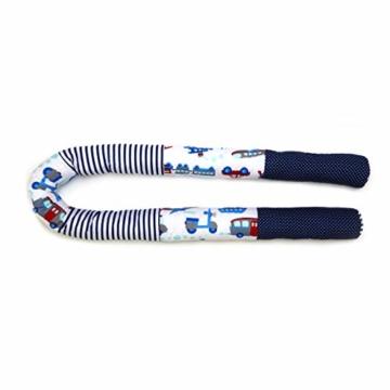 Bettschlange 210 cm Nestchenschlange für baby Bettrolle 2,10m bettumrandung Babybettschlange Auto Muster - 3