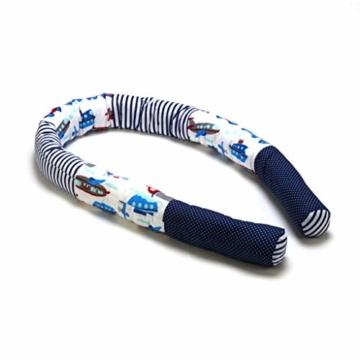 Bettschlange 210 cm Nestchenschlange für baby Bettrolle 2,10m bettumrandung Babybettschlange Auto Muster - 5