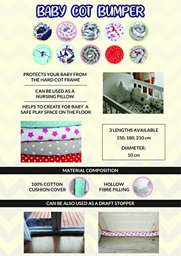 Bettschlange 210 cm Nestchenschlange für baby Bettrolle 2,10m bettumrandung Babybettschlange Auto Muster - 6