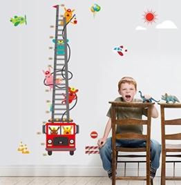 Beyond Kinderzimmer Wandsticker Wachstum Diagramm Feuerwehr Wandtattoo Wandbilder Aufkleber - 1