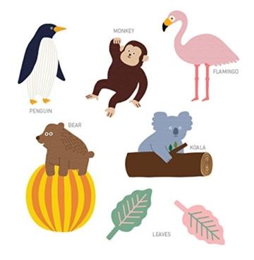 CoolChange Hochwertige Deko Girlande, Motiv: Tiere aus dem Zoo - 2