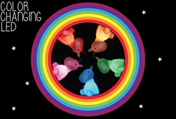 Dhink Einhorn Nachtlicht wiederaufladbar mit Timer Funktion und Dimmer - Multi Farbe und weißes Licht - 2