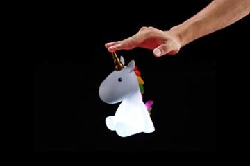 Dhink Einhorn Nachtlicht wiederaufladbar mit Timer Funktion und Dimmer - Multi Farbe und weißes Licht - 5