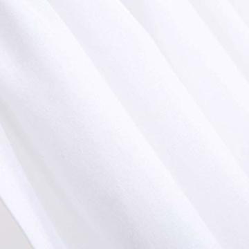 DOKOT Leinen Baumwolle Stickerei Küche Vorhang, Cafe Vorhang, Esszimmer Vorhang mit Crochet Tassel Border - 2