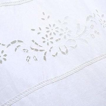 DOKOT Leinen Baumwolle Stickerei Küche Vorhang, Cafe Vorhang, Esszimmer Vorhang mit Crochet Tassel Border - 3