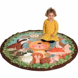 Dream Big - Baby Krabbeldecke - 3in1 Spieldecke, Kinderteppich und Aufbewahrungsbeutel für Spielzeug - KINDERZIMMER Deko und Aufräumsack Baumwolle 150 cm groß - 1