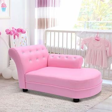 HOMCOM Kindersofa Kindersessel Sofa Couch Kinder Stuhl Kinderzimmer Softsofa Doppelsofa Einzelsofa Neu (Chaiselongue) - 2