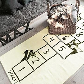 Jeteven Spielzeug Teppich Matte Kinder Baby Kinderteppich Mat Wandteppich Kinderzimmer Deko groß und dünn mädchen Jungen Game Carpet 170X72cm Beige - 2