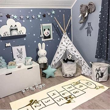 Jeteven Spielzeug Teppich Matte Kinder Baby Kinderteppich Mat Wandteppich Kinderzimmer Deko groß und dünn mädchen Jungen Game Carpet 170X72cm Beige - 3