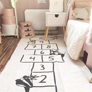 Jeteven Spielzeug Teppich Matte Kinder Baby Kinderteppich Mat Wandteppich Kinderzimmer Deko groß und dünn mädchen Jungen Game Carpet 170X72cm Beige - 1