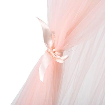 Jeteven Spitzenborte Baldachin Betthimmel Moskitonetz aus Spitze & Baumwolle,Moskitonetz Insektenschutz Kinder Prinzessin Spielzelte Dekoration fürs Kinderzimme,hoch 250cm (Reines Rosa) (D) - 5