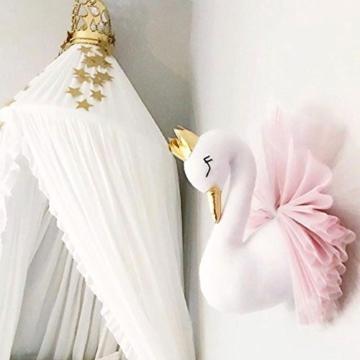 Kinderzimmer Dekoration,Crown Swan Wandbehang Dekoration Wand Dekorative Puppe Tierkopf fürs Kinderzimmer - 6