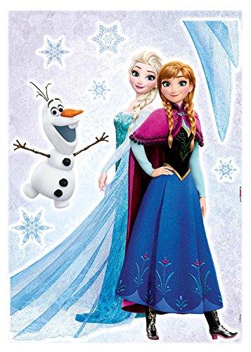 Komar - Disney - Deco-Sticker FROZEN SISTERS - 50 x 70 cm - Wandtattoo, Wandaufkleber, Wandsticker, Wandbild, Eiskönigin, Elsa, Anna, Olaf - 14046h - 1