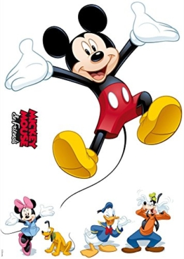 Komar - Disney - Deco-Sticker MICKEY AND FRIENDS - 50x70cm - Wandtattoo, Wandsticker, Wandaufkleber, Wandbild, Mickey Maus, Minnie Maus - 14017h - 1